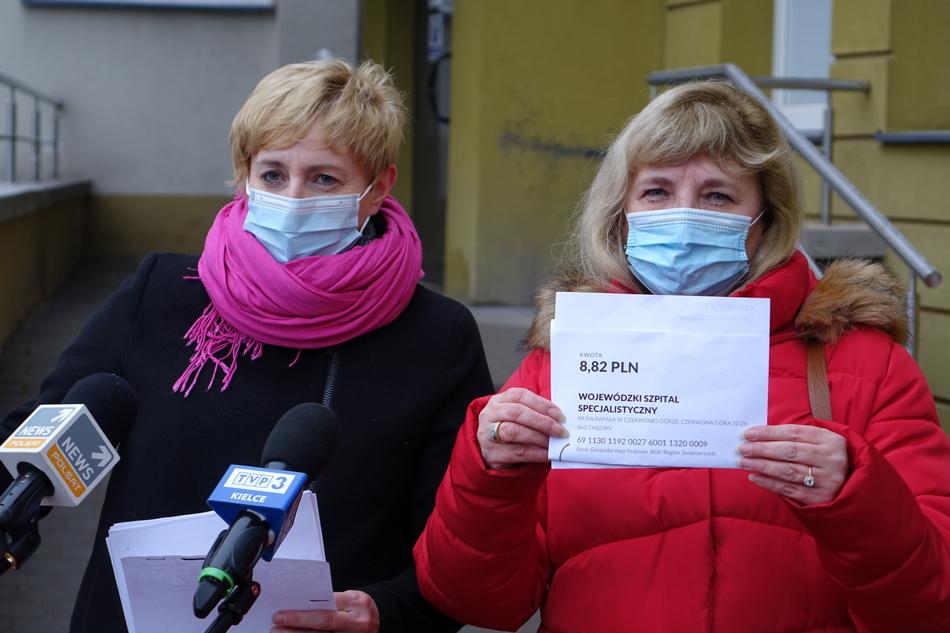 Pielęgniarki z Czerwonej Góry skarżą się na brak dodatku covidowego (WIDEO)