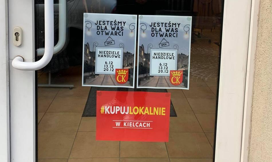 Niedziele handlowe w centrum Kielc. Ruszyła akcja #KupujLokalnie