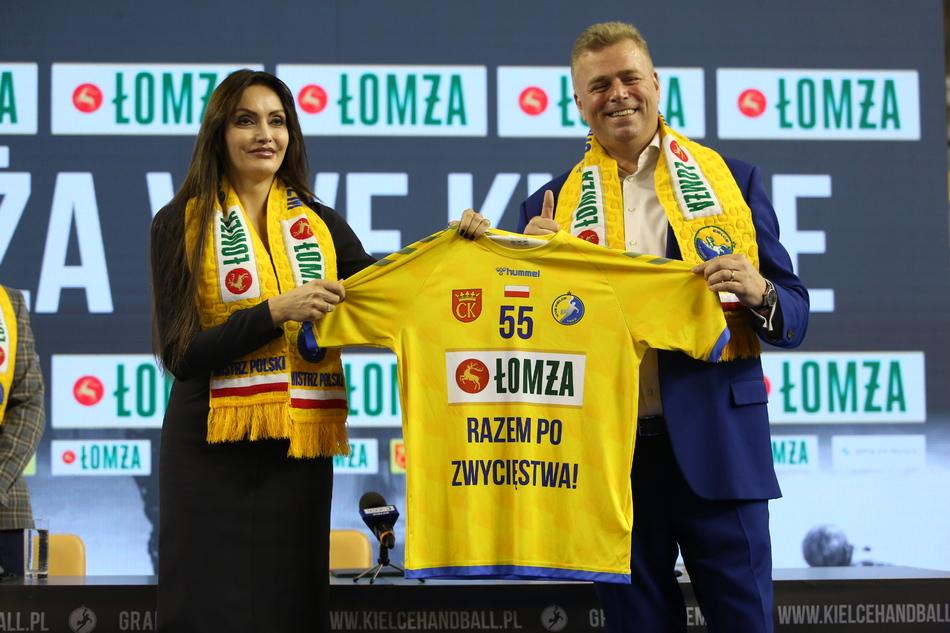 Marka ŁOMŻA sponsorem tytularnym kieleckiej drużyny mistrzów Polski