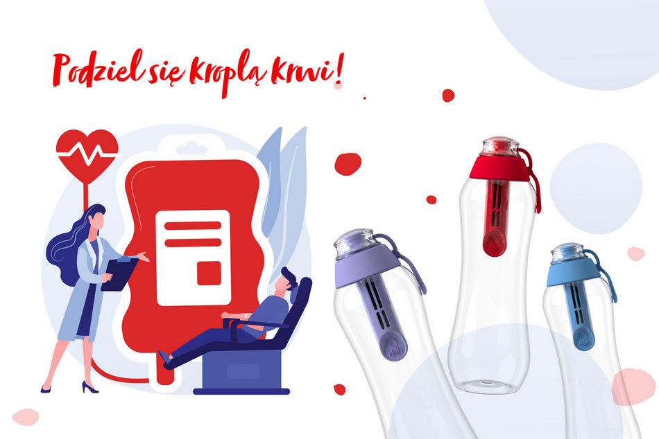 Podziel się krwią i zyskaj butelkę filtrującą od Dafi