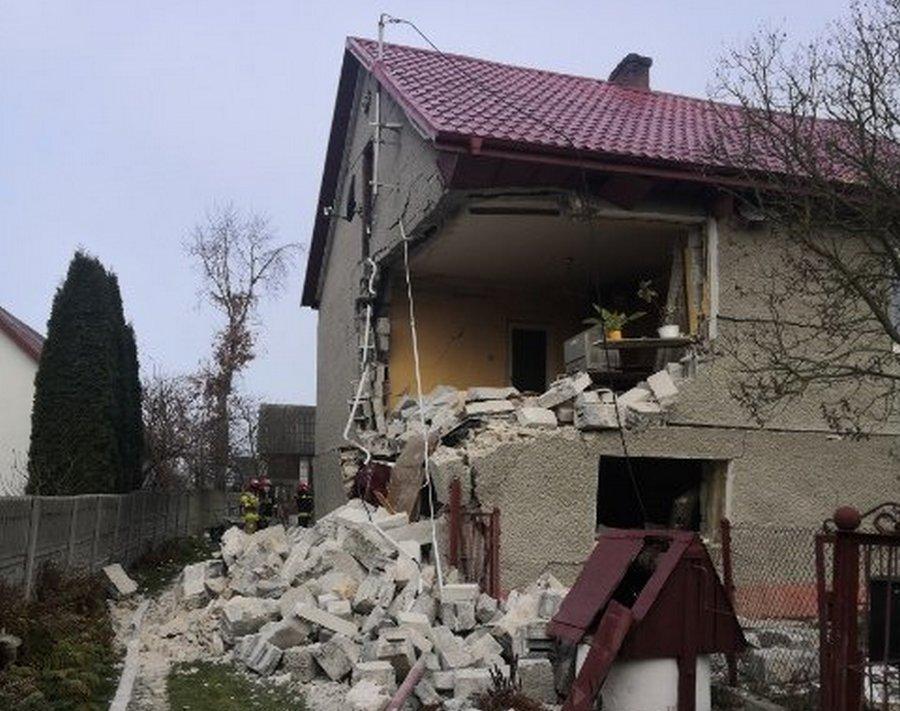Wybuch gazu rozerwał dom