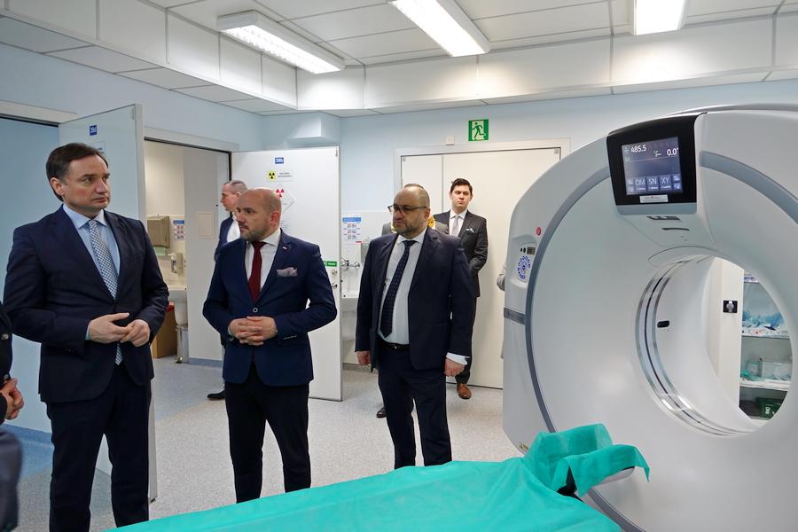 Minister Ziobro odwiedził szpital na Czarnowie