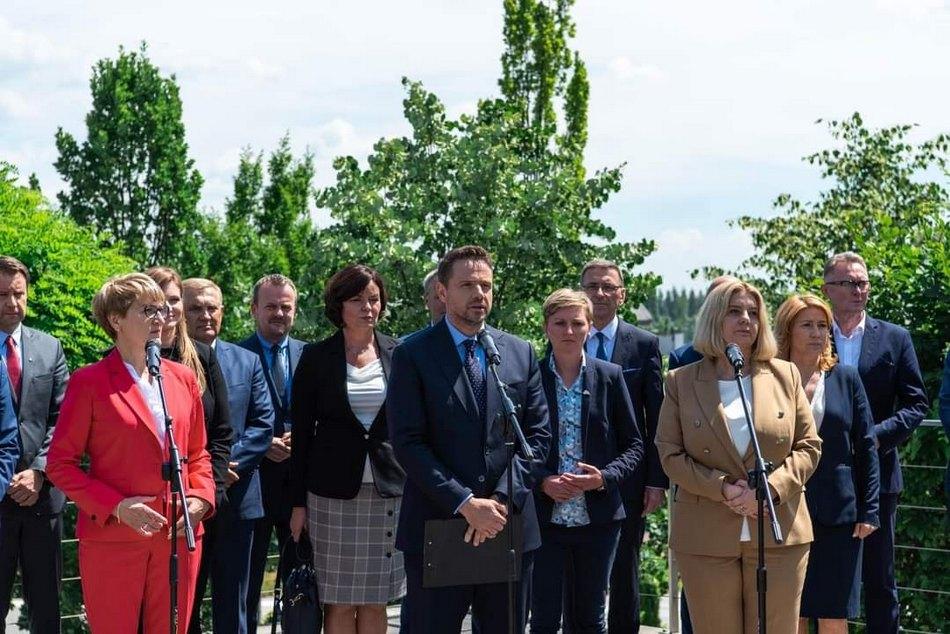 Wiceprezydent Agata Wojda z Rafałem Trzaskowskim w nowym ruchu