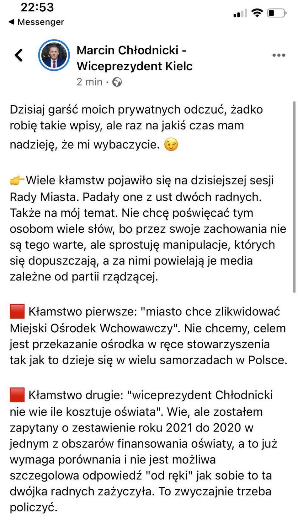 Kompromitacja wiceprezydenta Chłodnickiego? Chamstwo i kłamstwa na sesji?