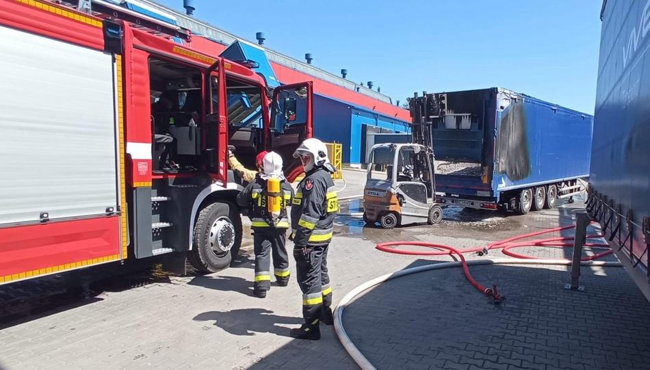 Pożar hali na Olszewskiego