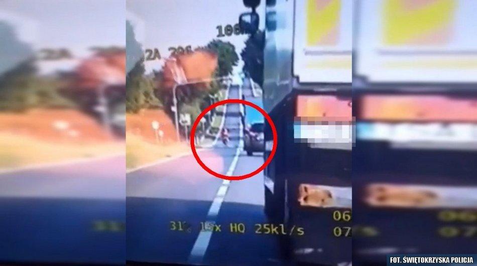 Szaleńczy rajd motocyklisty za 15 punktów karnych