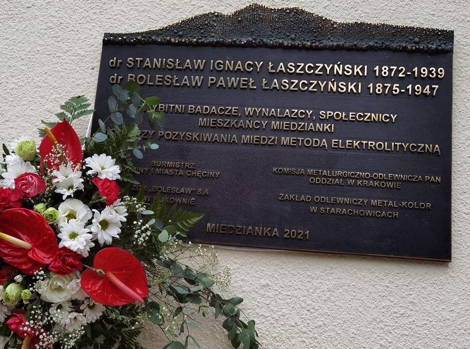 W Miedziance odsłonięto tablicę braci Łaszczyńskich