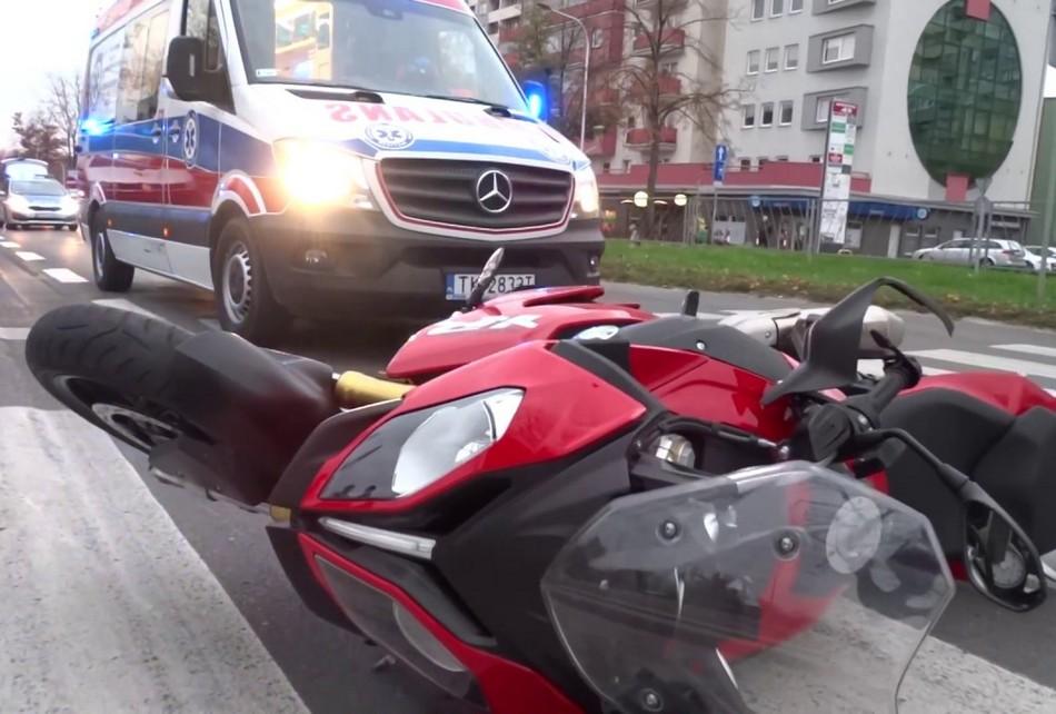W Chęcinach zginął motocyklista
