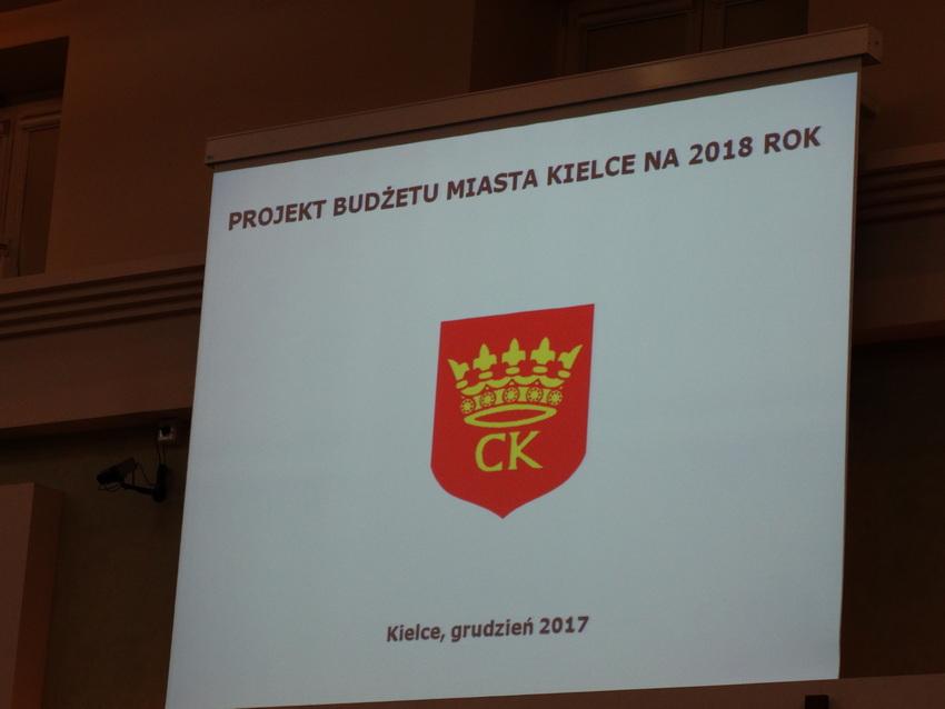Budżet Kielc na 2018 rok uchwalony