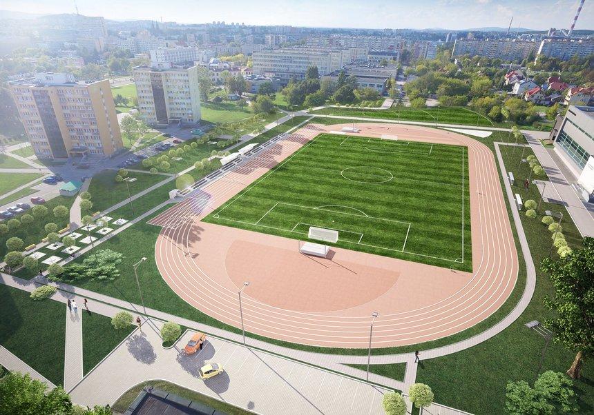 Stadion Politechniki Świętokrzyskiej nabiera kształtu