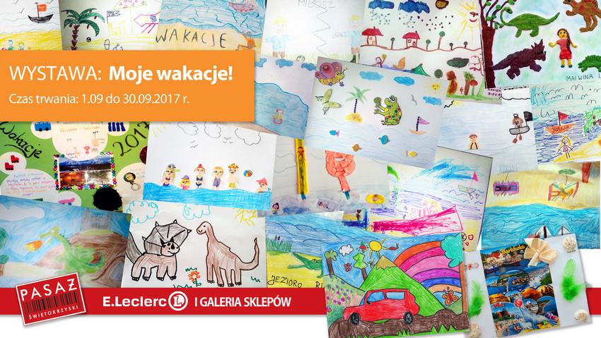"""Wystawa """"Moje wakacje"""" w Pasażu Świętokrzyskim"""