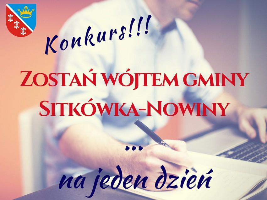 Zostań wójtem Sitkówki-Nowin!