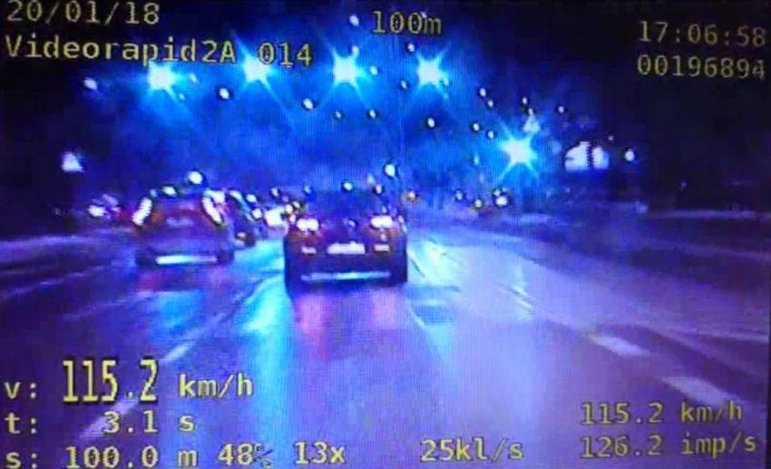 Stracił prawo jazdy za 115 km/h w centrum Kielc