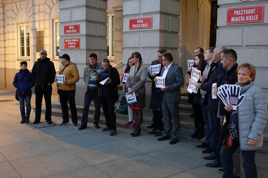 KUKIZ'15 protestował przeciwko ACTA2 (WIDEO)