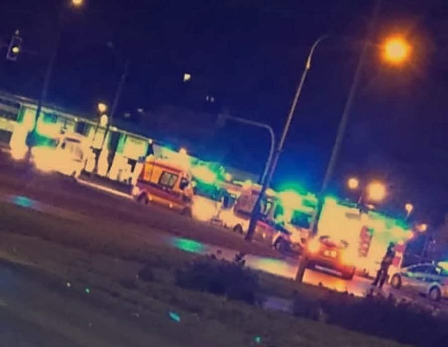 5 osób trafiło do szpitala po nocnym wypadku na ulicy Jagiellońskiej