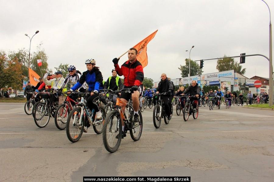 Europejski Tydzień Zrównoważonego Transportu w Kielcach. Parad rowerowa ulicami miasta