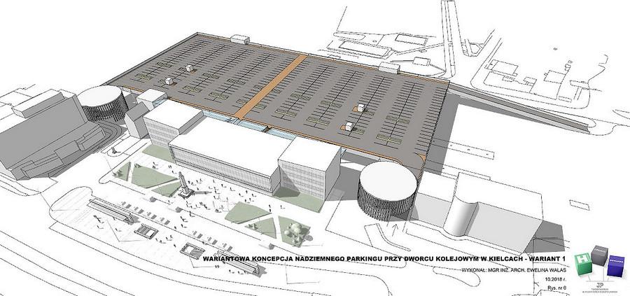 Parking nad peronami dworca PKP. Ratusz prezentuje dwa warianty