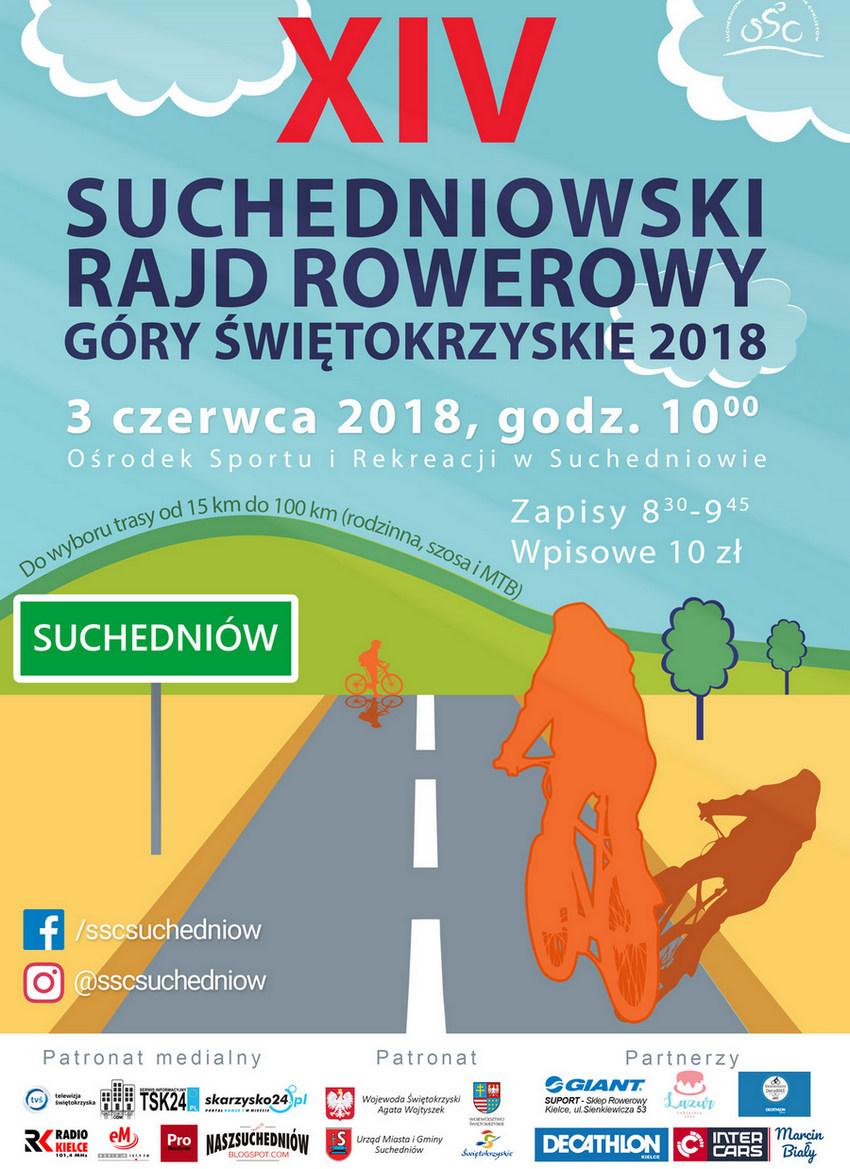 XIV Suchedniowski Rajd Rowerowy Góry Świętokrzyskie 2018