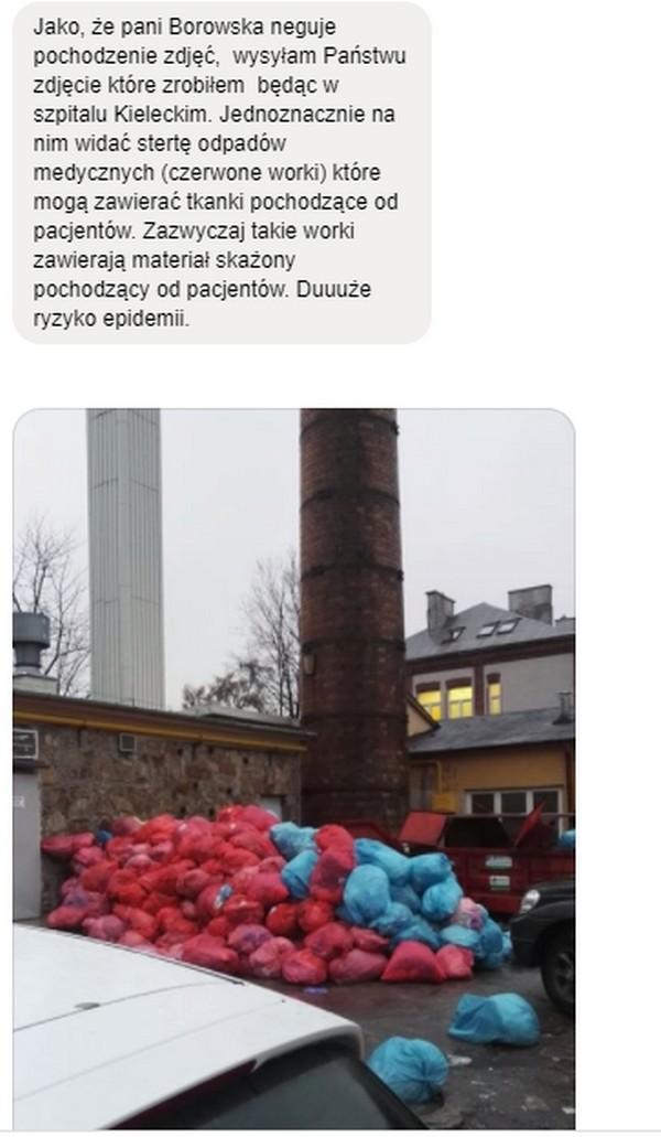 Niebezpieczne wysypisko odpadów przy Szpitalu Kieleckim