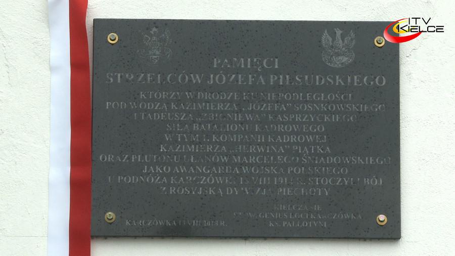 Tablicą przy klasztorze na kieleckiej Karczówce upamiętnili Strzelców Piłsudskiego