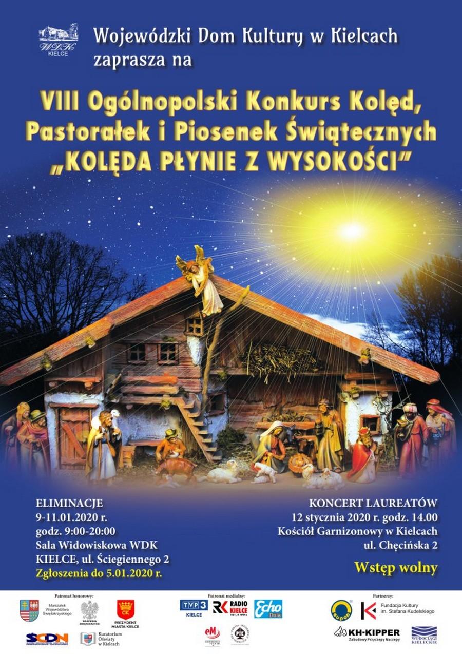 Przed nami  VIII Ogólnopolski Konkurs Kolęd, Pastorałek i Piosenek Świątecznych Kolęda płynie z wysokości