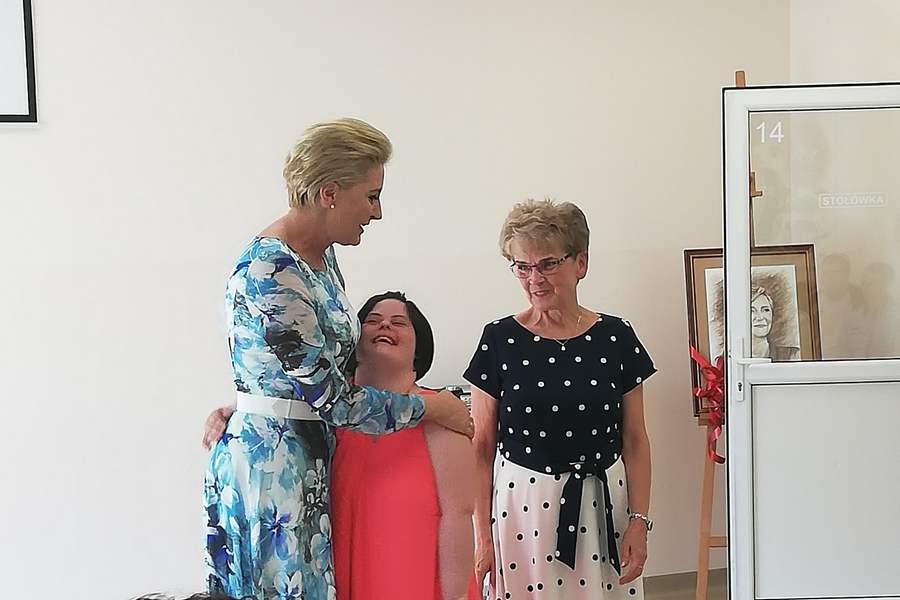 Pierwsza Dama odwiedziła Kielce. Spotkała się z niepełnosprawnymi dzieciakami