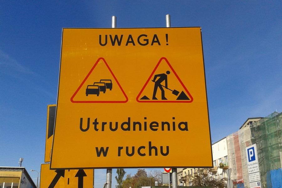 Przełożenie ruchu na remontowanej ulicy w Kielcach
