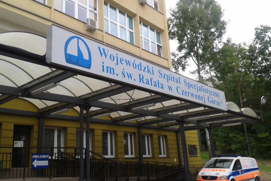 Nowy budynek przy szpitalu w Czerwonej Górze. W sumie będzie kosztował 22,6 mln zł