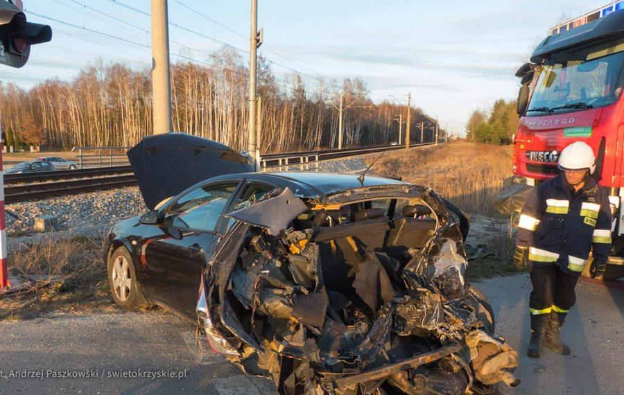 Pociąg uderzył w aut. Nikomu nic się nie stało!