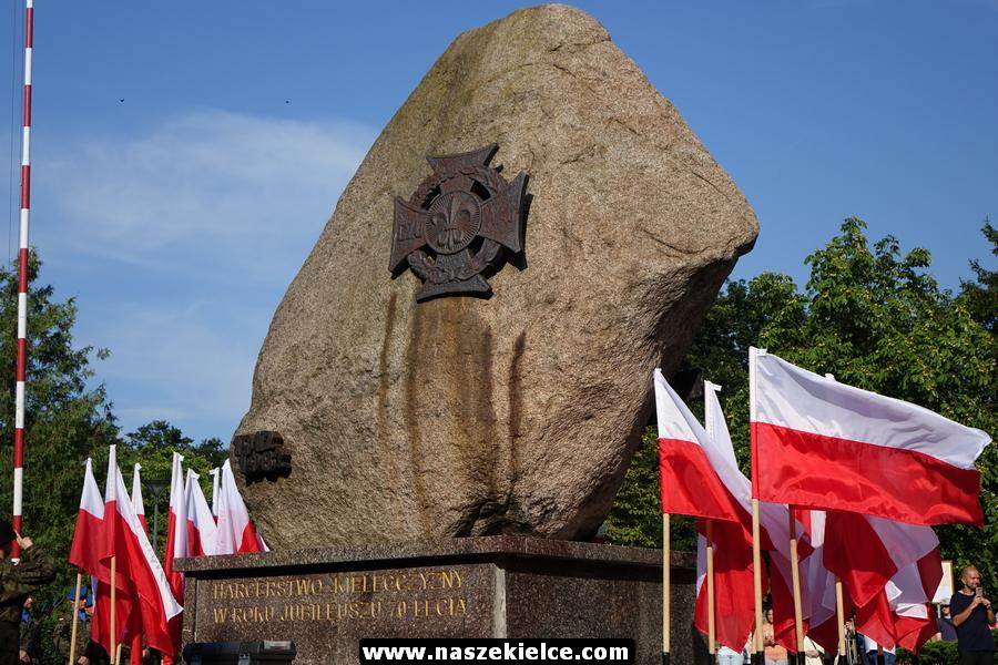 Kieleckie obchody 74 rocznicy Powstania Warszawskiego 01.08.2018