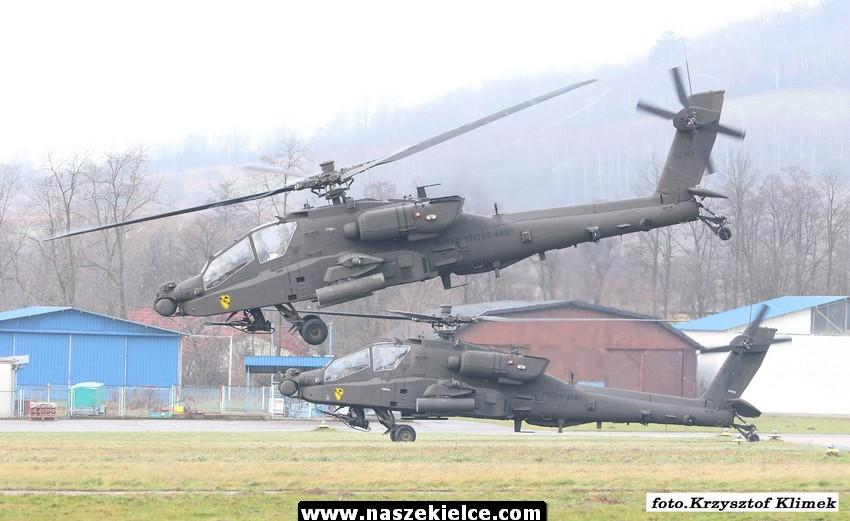 Odlot amerykańskich śmigłowców z Masłowa 01.01.2017