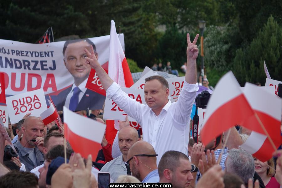 Prezydent Andrzej Duda w Kielcach 19.06.2020