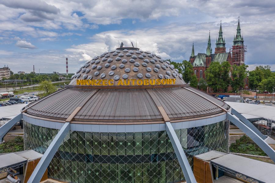 Centrum Komunikacyjne w Kielcach na finiszu budowy 28.05.2020
