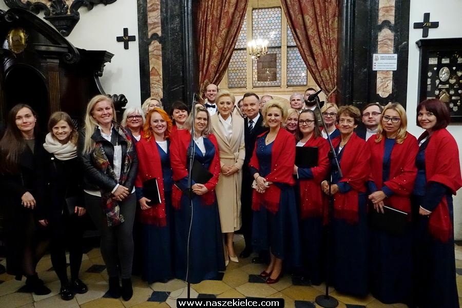 Kielecki Chór Garnizonowy wystąpił na Wawelu dla Prezydenta Dudy 16.11.2019