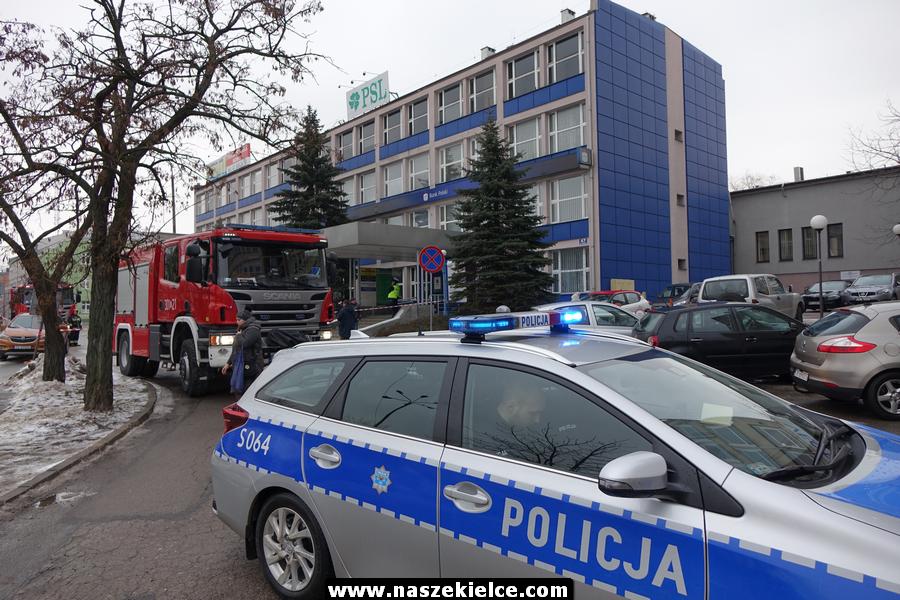 Fałszywy alarm bombowy w biurze PSL 29.01.2019.