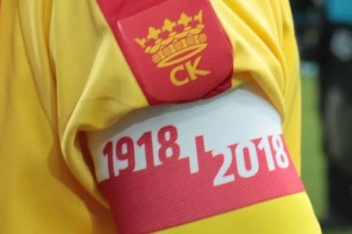 kielce wiadomości Korona wygrała z Piastem. Piłkarze uczcili setną rocznicę niepodległości (ZDJĘCIA)