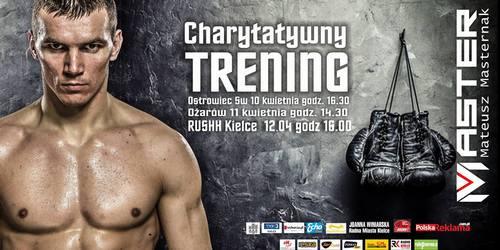 kielce sport Charytatywny trening bokserski z mistrzem Europy