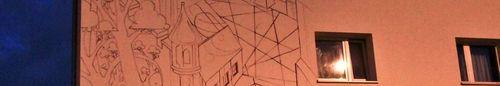 kielce wiadomości Barwny mural powstaje na kieleckiej kamienicy