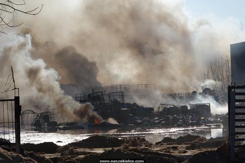 kielce wiadomości 400 ton piachu przykryje pogorzelisko w Nowinach