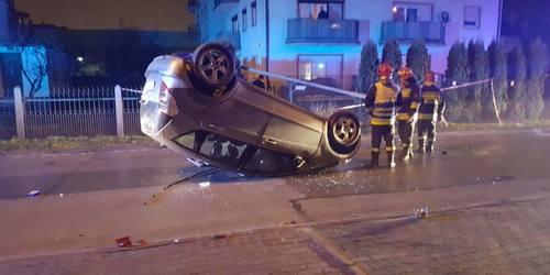 kielce wiadomości Kolejny pijany kierowca w Kielcach. Dachował Mercedesem na Leszczyńskiej