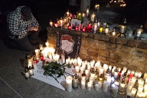 kielce wiadomości Kielczanie sercem z Gdańskiem i bliskimi zmarłego prezydenta (ZDJĘCIA)