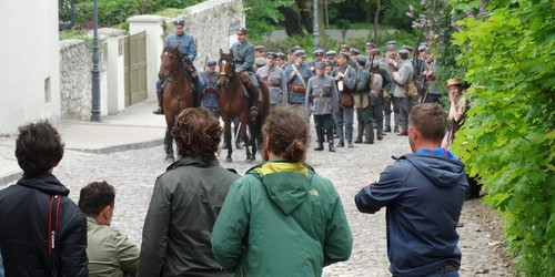 kielce wiadomości W Kielcach kręcili film o Józefie Piłsudskim (ZDJĘCIA,WIDEO)