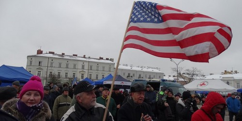 kielce wiadomości Kielczanie witali wojska amerykańskie (ZDJĘCIA,WIDEO)