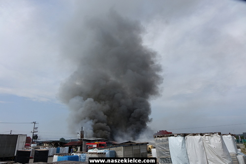 kielce wiadomości Paliła się fabryka zniczy na Ściegiennego (ZDJĘCIA,WIDEO)
