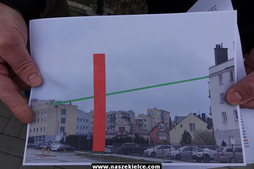 kielce wiadomości Kielczanie z Nowej znów protestują. Nie chcą wysokiego budynku w sąsiedztwie (ZDJĘCIA,WIDEO)