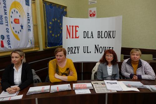 """kielce wiadomości Blok w otoczeniu domów? Rada jest na """"nie"""""""