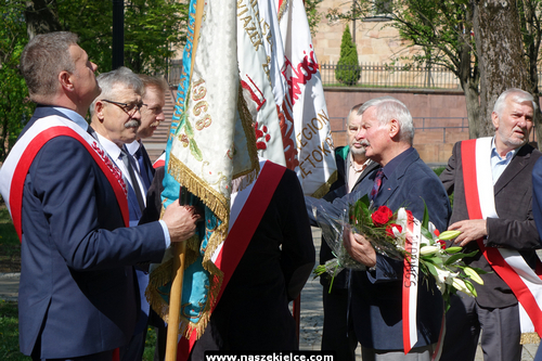 kielce wiadomości Świętokrzyska Solidarność uczciła Święto Pracy (ZDJĘCIA)