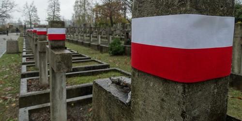 kielce wiadomości Młodzież sprzątała groby bohaterów. Na krzyżach pojawiły się biało-czerwone opaski (ZDJĘCIA)