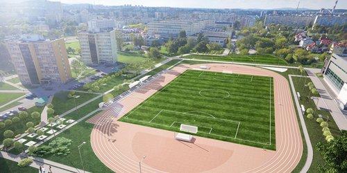 kielce wiadomości Stadion Politechniki Świętokrzyskiej nabiera kształtu