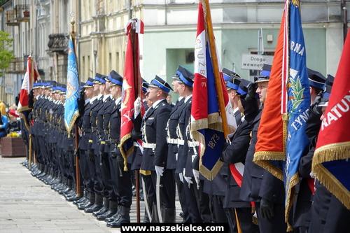 kielce wiadomości Strażacy świętowali w centrum Kielc. Wojewódzkie obchody dnia strażaka (ZDJĘCIA,WIDEO)